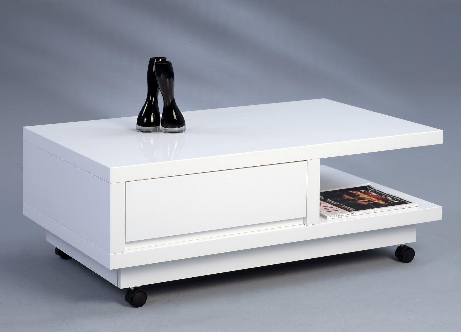 Couchtisch Beistelltisch - Wera - 100x60 cm Hochglanz weiss - Kaufen ...