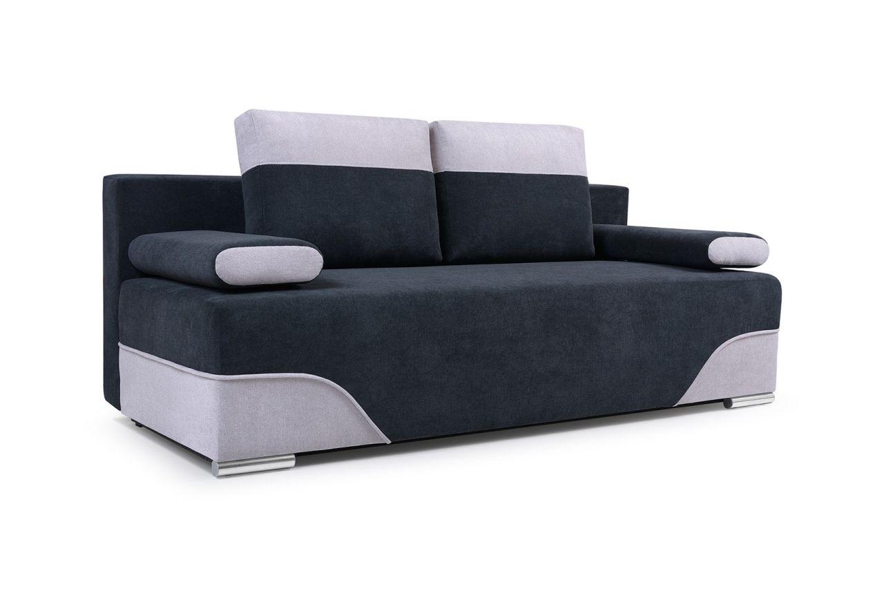 Sofa 2 Sitzer Schlafsofa Erik Stoff Schwarz Hellgrau Kaufen Bei
