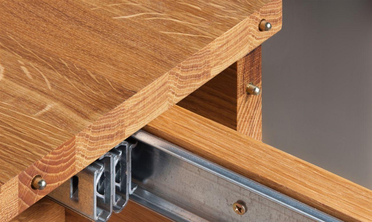 esstisch tisch ausziehbar maison eiche massiv 200 500x100. Black Bedroom Furniture Sets. Home Design Ideas