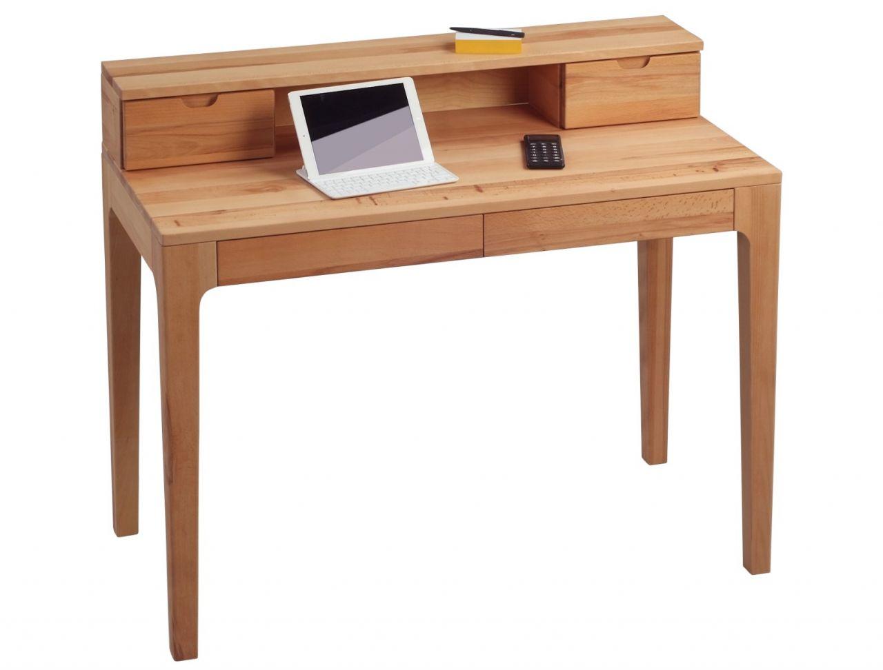 Schreibtisch Bürotisch Sekretär - Otto - 110x55 mm - Kernbuche ...