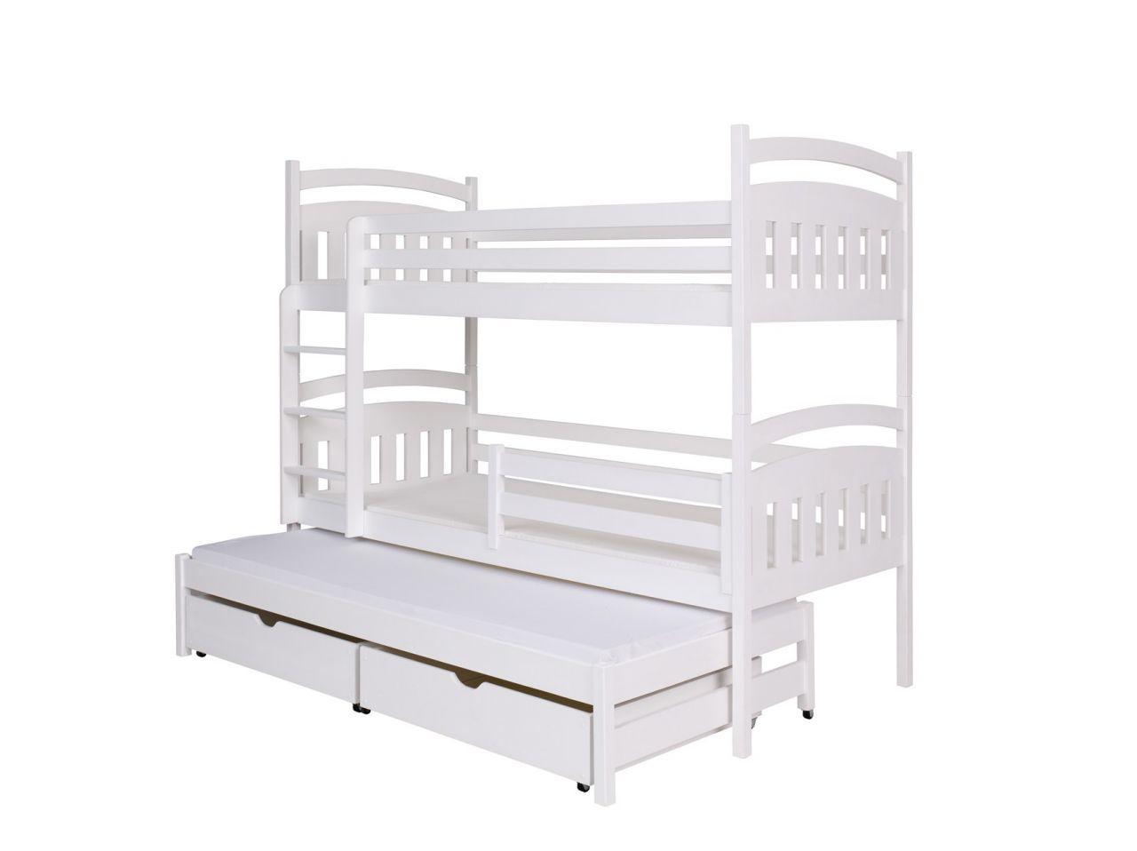 Etagenbett Liegefläche 80 180 : Etagenbett für erwachsene weiß nische teilbar mit