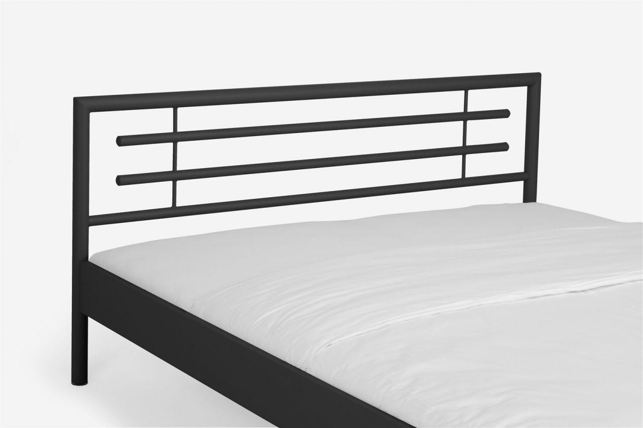 metallbett doppelbett bett steel schwarz lackiert 120x200 cm kaufen bei sylwia. Black Bedroom Furniture Sets. Home Design Ideas