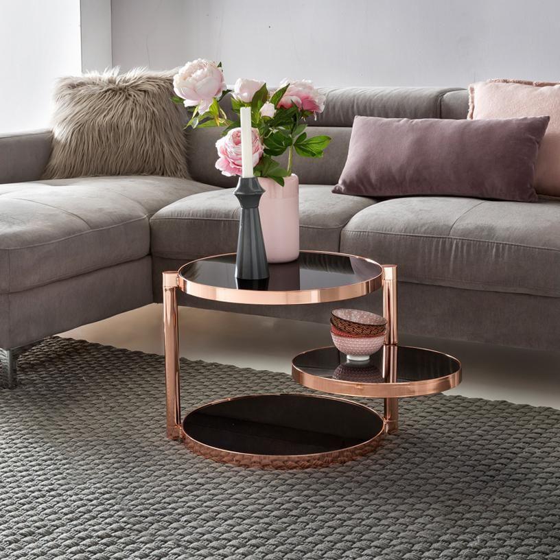 couchtisch beistelltisch charms 45x45cm metall glas. Black Bedroom Furniture Sets. Home Design Ideas