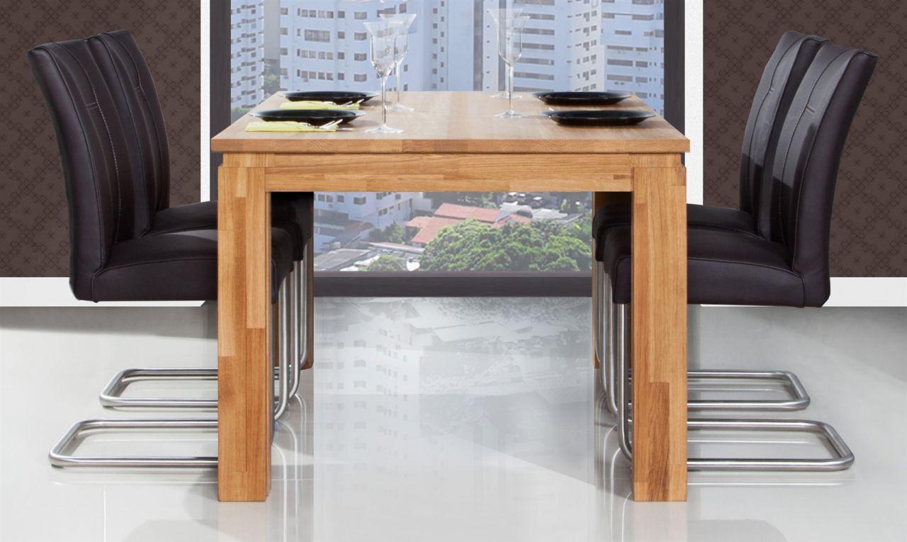 esstisch tisch maison wildeiche massiv ge lt 100x90 cm. Black Bedroom Furniture Sets. Home Design Ideas
