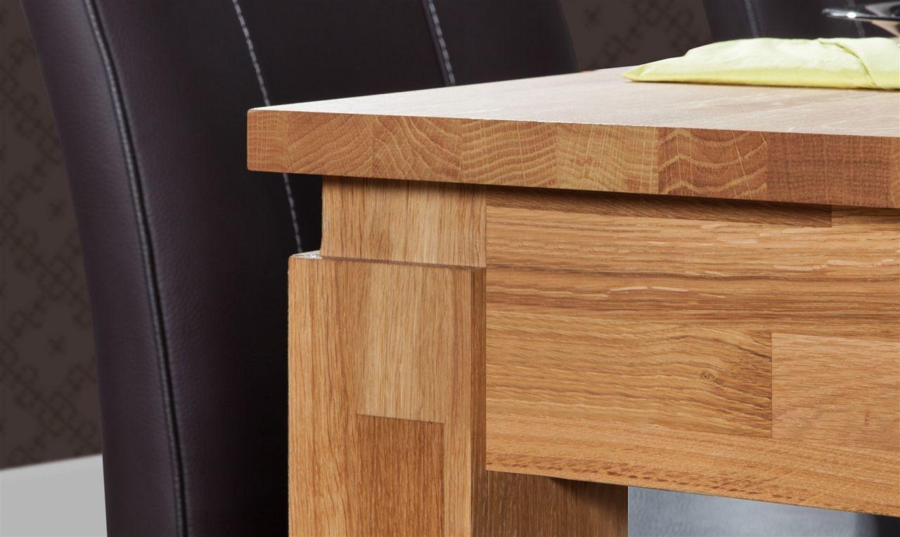 esstisch tisch maison wildeiche massiv ge lt 120x80 cm. Black Bedroom Furniture Sets. Home Design Ideas