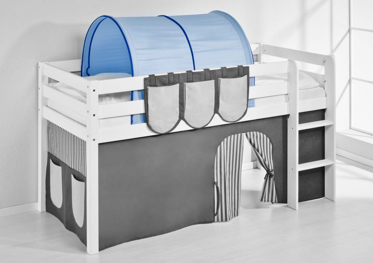 Etagenbett Englisch : Tunnel blau für hochbett spielbett und etagenbett