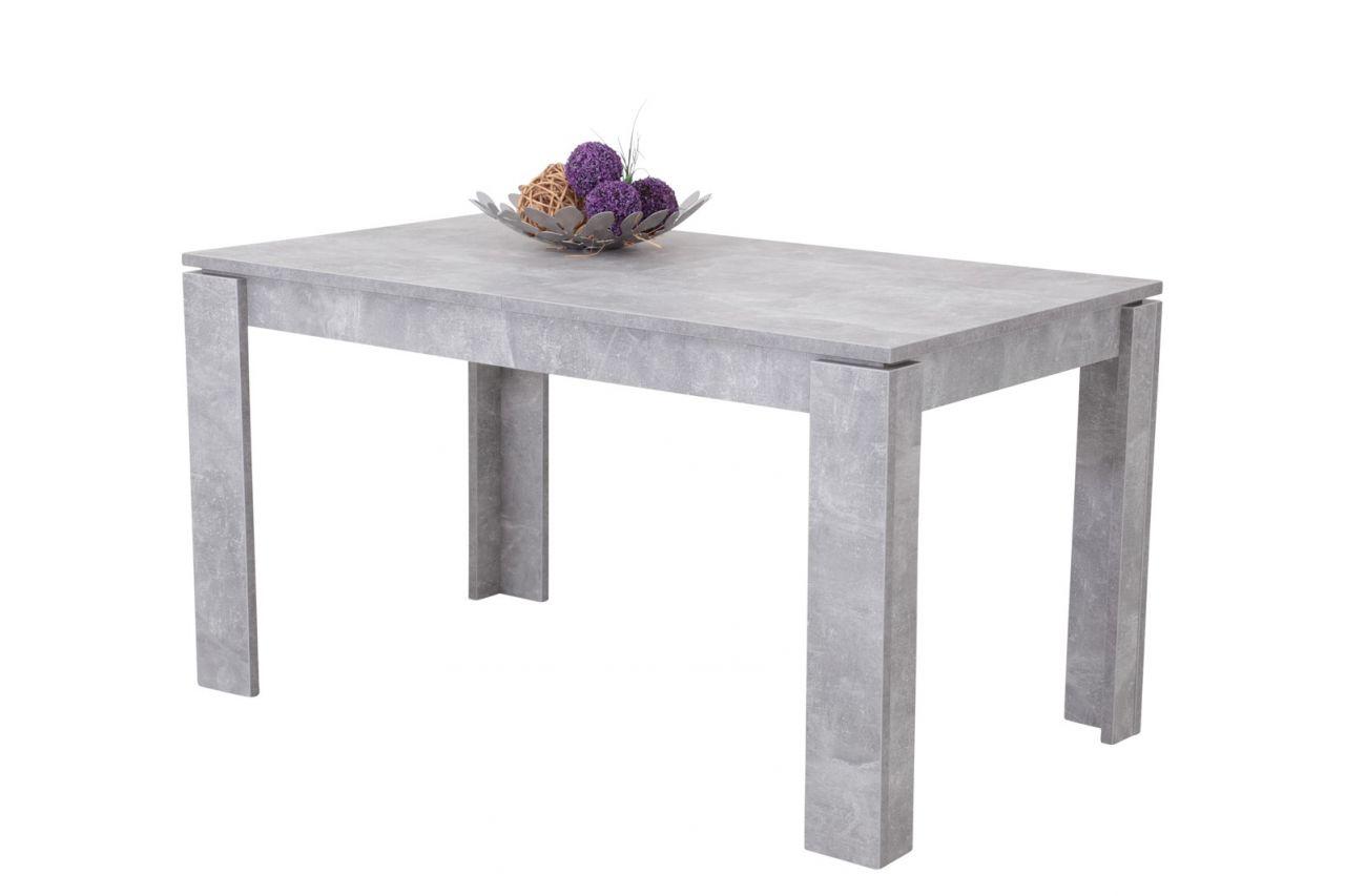 esstisch tisch auszugstisch pascale 140-180 x 80 cm betonoptik
