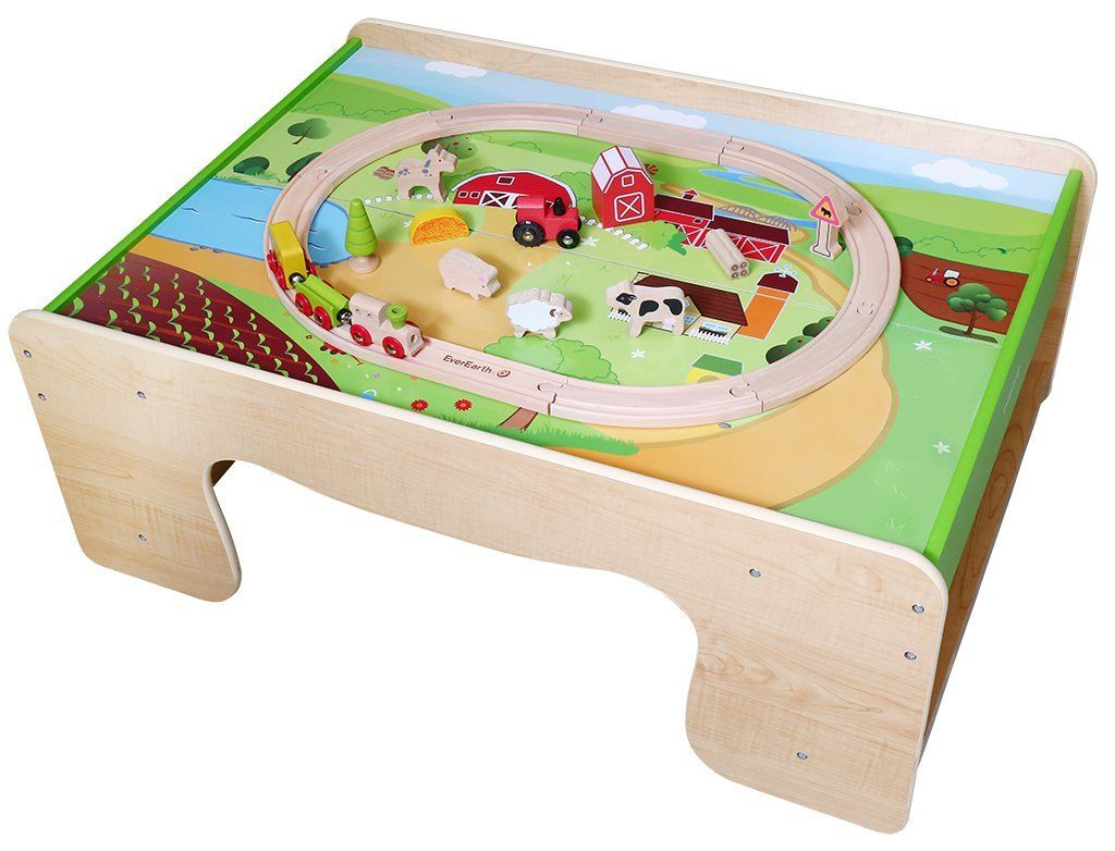 Tisch Eisenbahn.Holzspielzeug Eisenbahn Tisch Eisenbahn Set Bauernhof