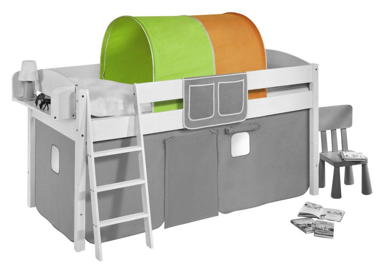 Etagenbett Spielbett : Tunnel grün orange für hochbett spielbett und etagenbett