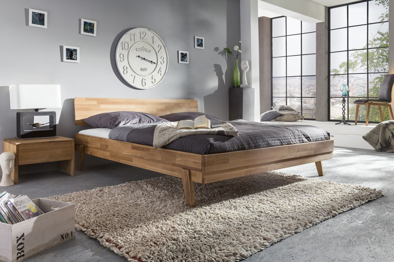 Massivholzbett Schlafzimmerbett - VIA - Bett Wildeiche 140x200 cm ...