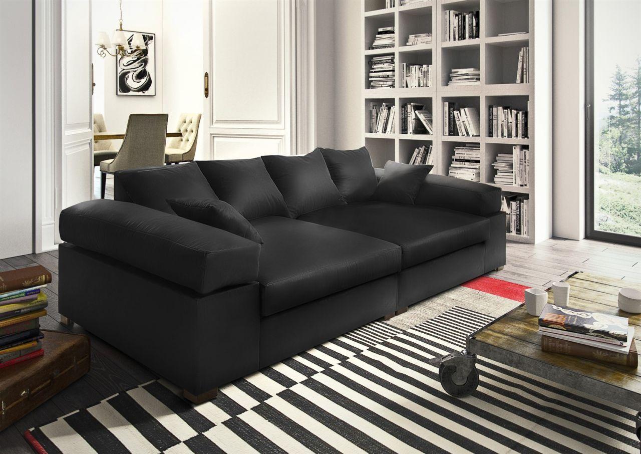 big sofa couchgarnitur megasofa riesensofa arezzo kunstleder schwarz kaufen bei sylwia. Black Bedroom Furniture Sets. Home Design Ideas