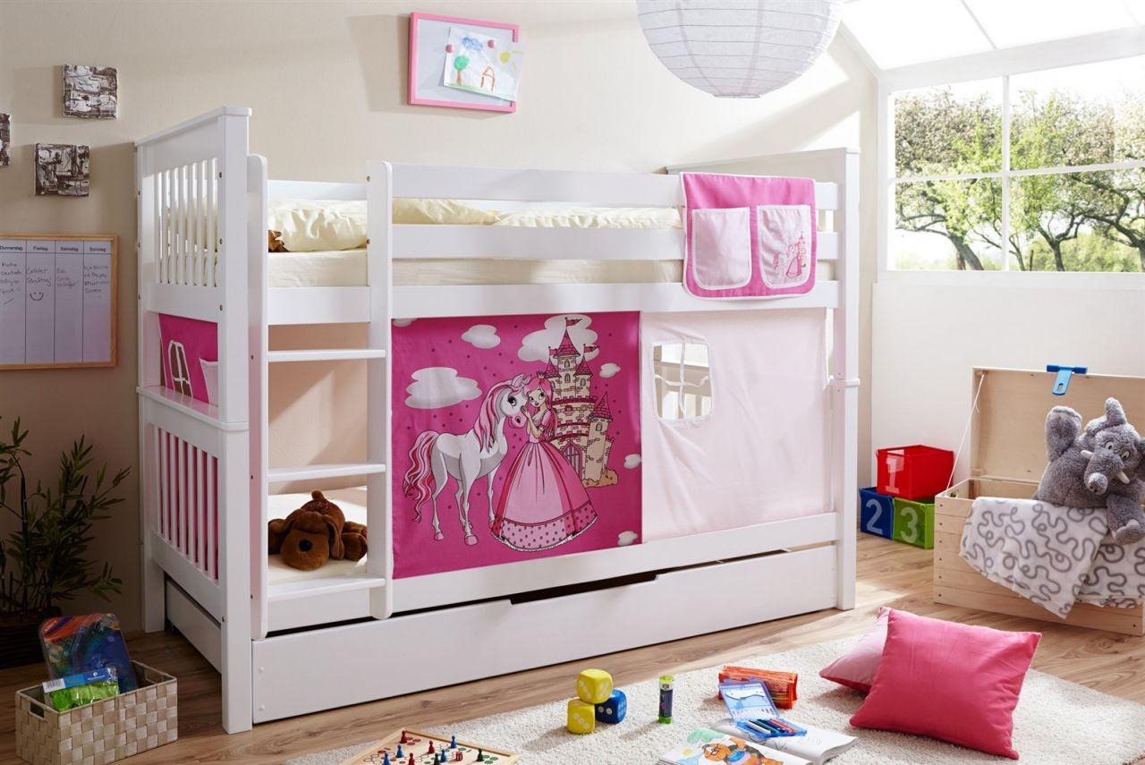 Etagenbett Pink : Parisot etagenbett hochbett tamtam weiß cm pink blau