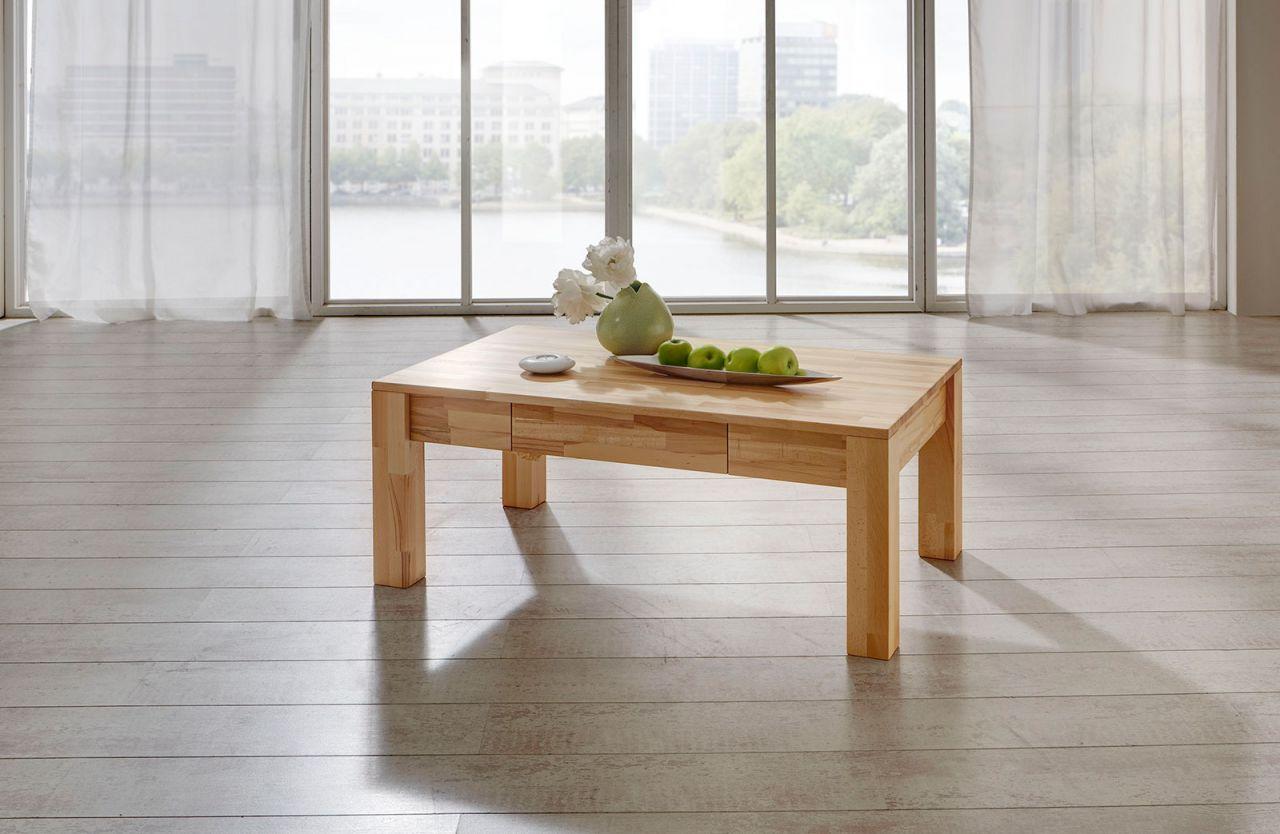 Couchtisch Tisch Nico Eiche Vollmassiv Echtholz 110 X 70 Cm