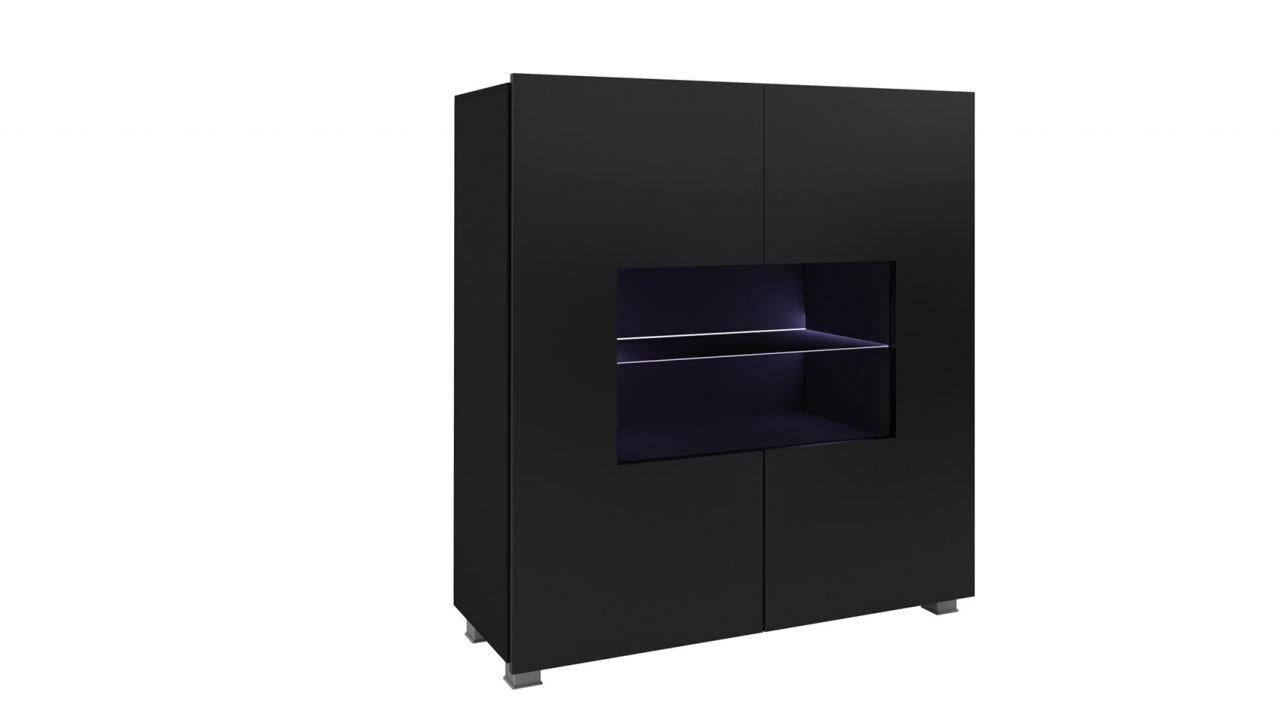 Bemerkenswert Highboard Kaufen Ideen Von Schrank Vitrine Labri 100x105x35cm Schwarz Hochglanz +