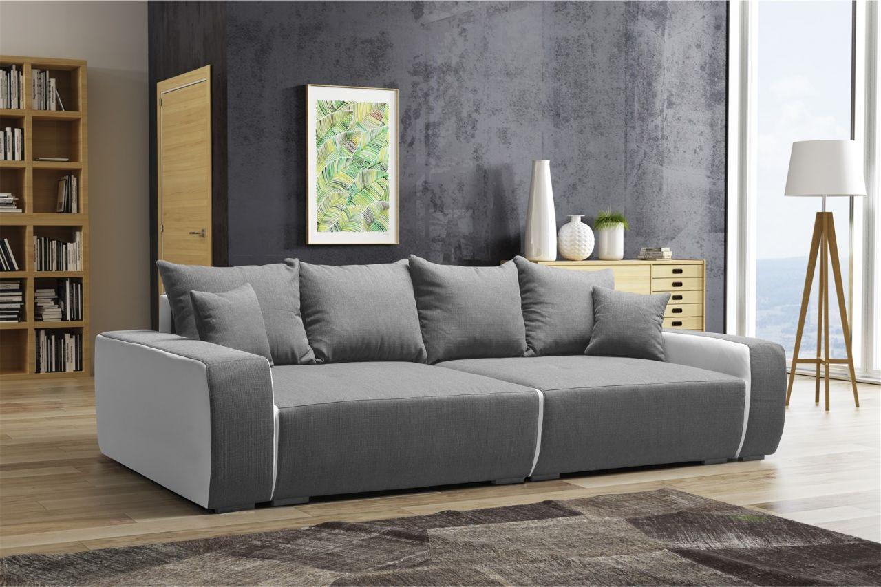 big sofa couchgarnitur reggio megasofa mit schlaffunktion. Black Bedroom Furniture Sets. Home Design Ideas