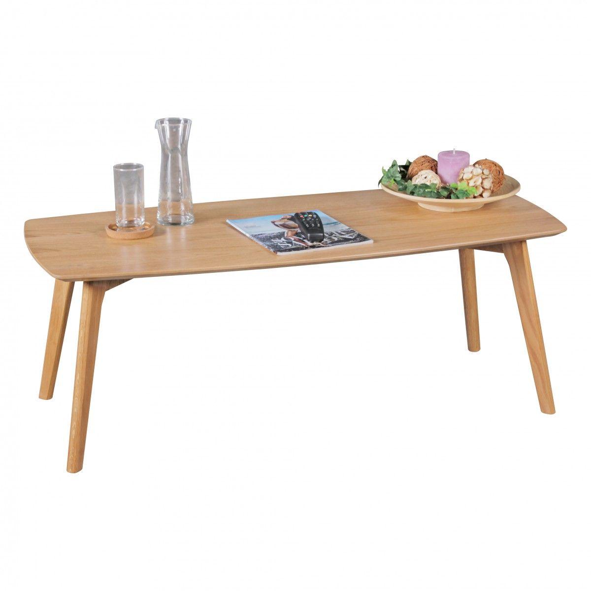 Couchtisch Tisch Jasper Mdf Eiche Furnier 110x50 Cm Landhausstil
