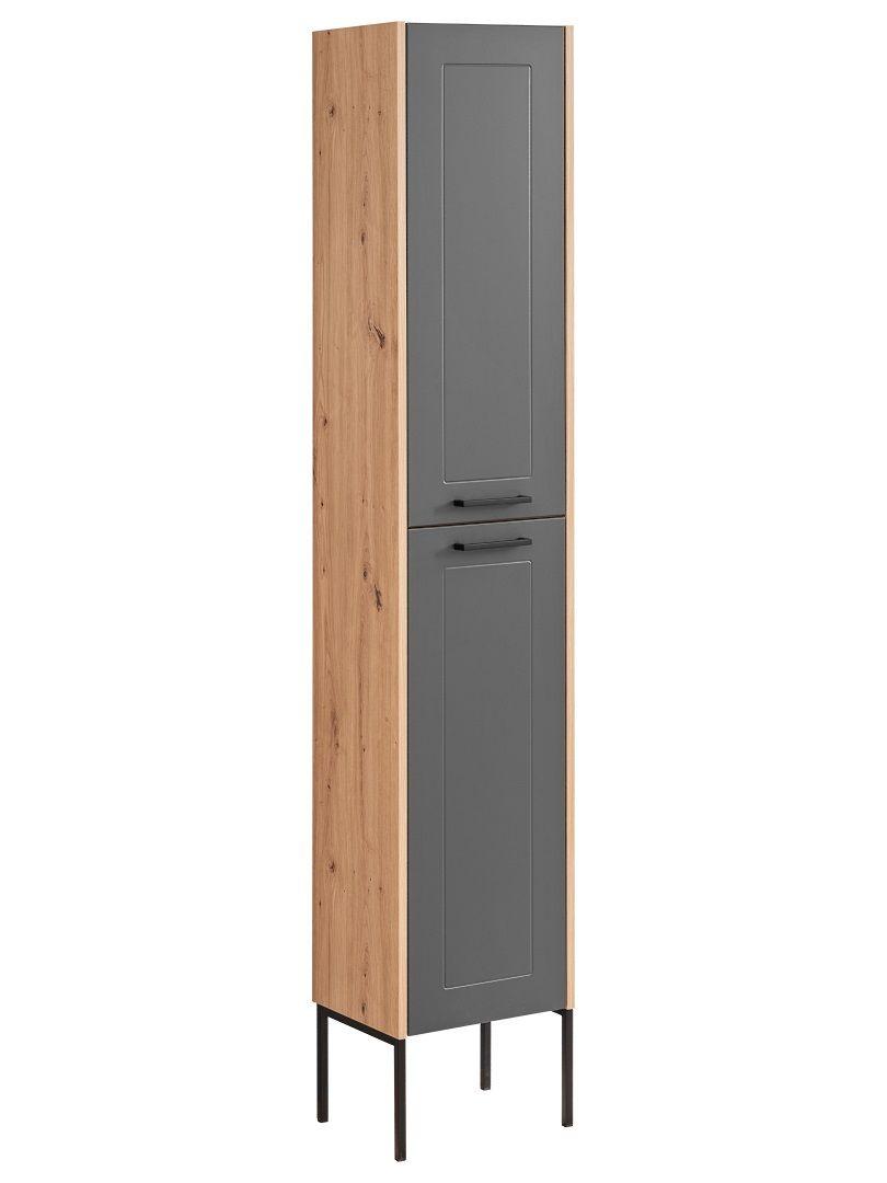 Badezimmer Hochschrank 20x20x20 cm PANTIN Grau