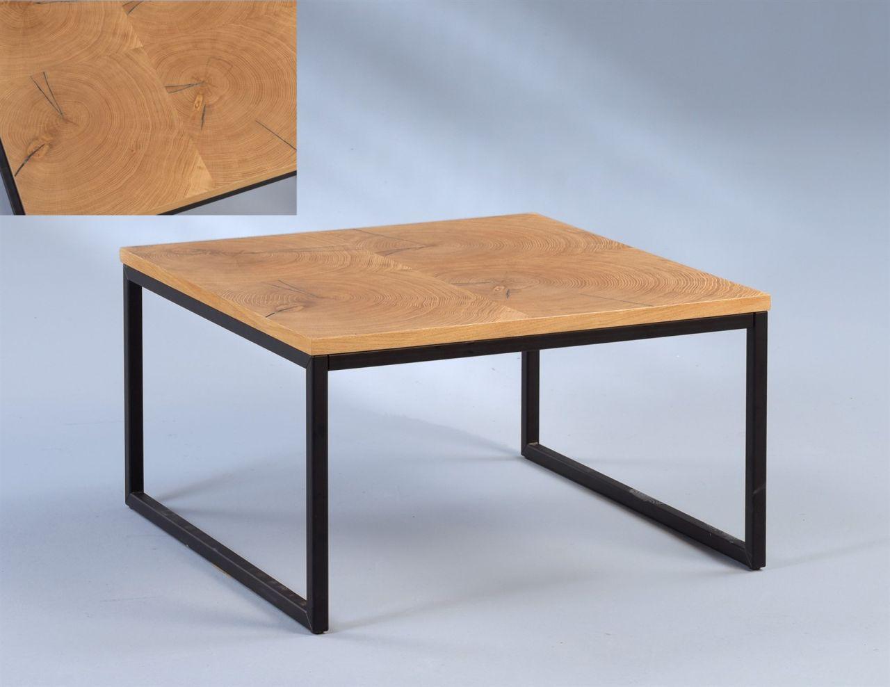 Couchtisch Beistelltisch Corina 60x60 Cm Baumstammprofil Massivholz