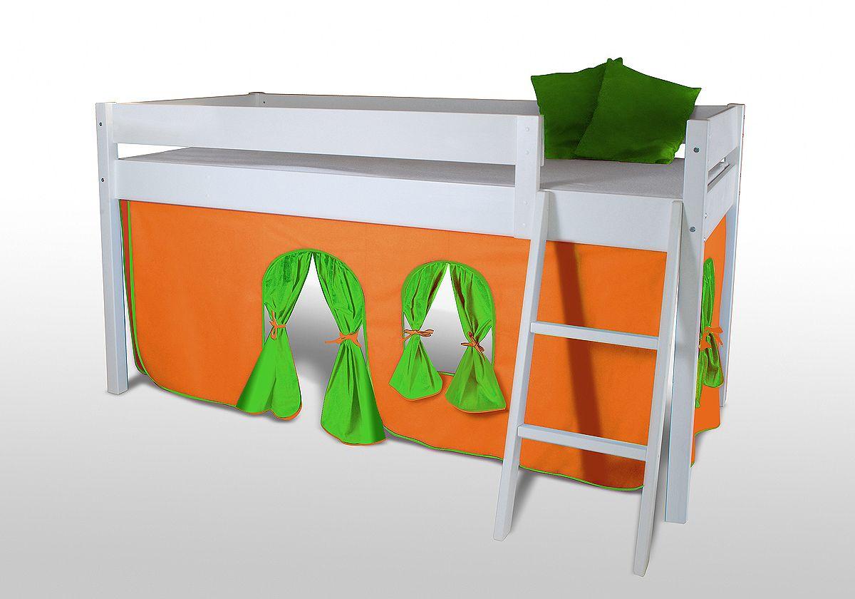 Etagenbett Vorhang Set : Vorhangset neues design orange grÜn für hochbet spielbett