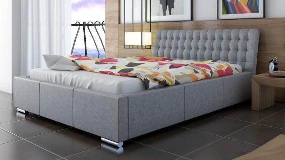 Polsterbett Bett Doppelbett DIVO 200x200cm inkl.Bettkasten