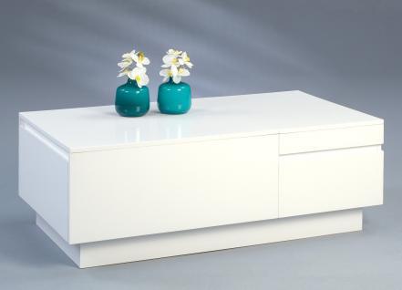 Couchtisch Beistelltisch - Iris - 110x60 cm Hochglanz weiss