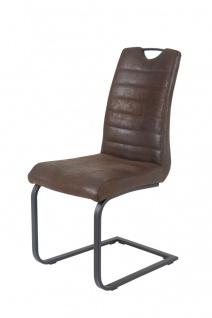 Esszimmerstühle Stühle Freischwinger 2er Set - Mark - Braun