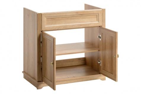 Badmöbel Set 5-tlg Badezimmerset MADERA Eiche inkl.Waschtisch 80 cm - Vorschau 5