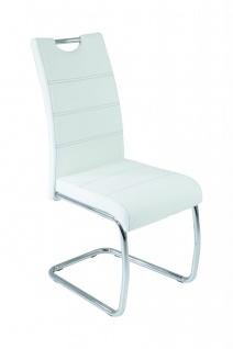 Esszimmerstühle Stuhl Freischwinger 4er Set ELENI Weiss - Vorschau 1