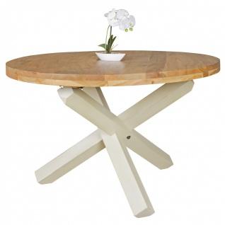 Esszimmertisch Tisch LANDO 120x120 cm Landhaus-Stil Akazie Voll-Holz