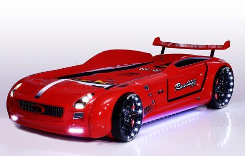 Autobett Kinderbett - Knight Rider -Standart - Rot inkl.Beleuchtung