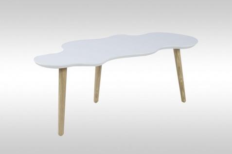 Couchtisch Tisch - OTTAWA -117 x 50 cm MDF / Massivholz Weiss - Vorschau