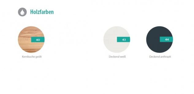Couchtisch Tisch ROMI Kernbuche vollmassiv / Echtholz 80 x 80 cm - Vorschau 4