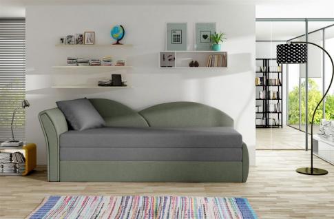 Sofa Schlafsofa inklusive Bettkasten ALINA / L - Hellgrau / Grau