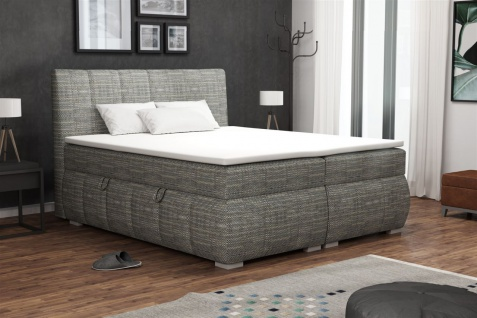 Boxspringbett Schlafzimmerbett VINCENZA 200x200cm inkl.Bettkasten