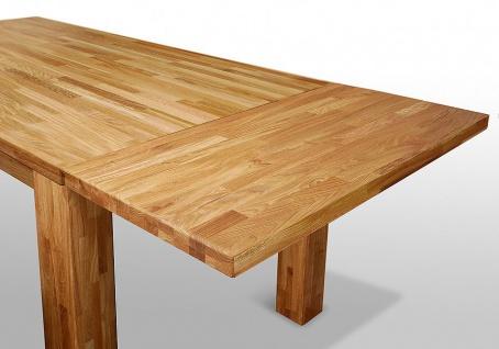 """Esstisch Tisch """" BEA"""" 180x90 cm Eiche massiv geölt / Fuß 115 x115 mm - Vorschau 3"""