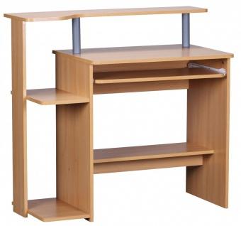 Computertisch Schreibtisch - VIS - Buche Dekor mit viel Ablage