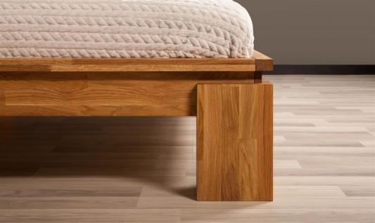 Futonbett Bett Schlafzimmerbet MAISON XL Eiche massiv 140x200 cm - Vorschau 2