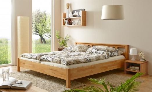 Schlafzimmerbett Tagesbett Bett -SELLY -Kernbuche geölt 140x200 cm