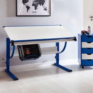 Schreibtisch Kinderschreibtisch MARWIN 120 x 60 cm Blau / Weiss