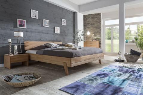 Massivholzbett Schlafzimmerbett - VIA - Bett Kernbuche 200x200 cm