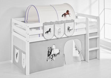 Tunnel Pferde Lila - für Hochbett, Spielbett und Etagenbett