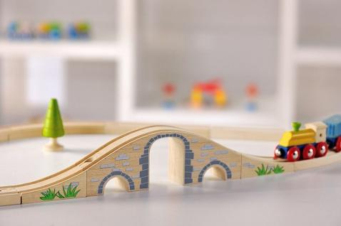 Holzspielzeug - Eisenbahnbrücke - Vorschau 4