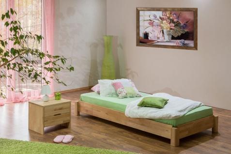 Gästebett Stapelbett Bett - MOBY - 90x200 Buche massiv inkl. Rollrost