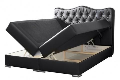 Boxspringbett Schlafzimmerbett SULTAN Kunstleder Schwarz 120x200cm - Vorschau 2