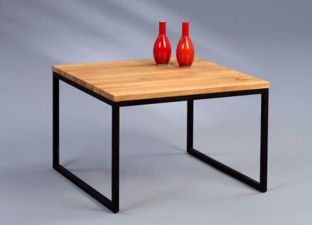 Couchtische Beistelltisch - Selma 1 -Wildeiche Massiv 60x60 cm - Vorschau 1