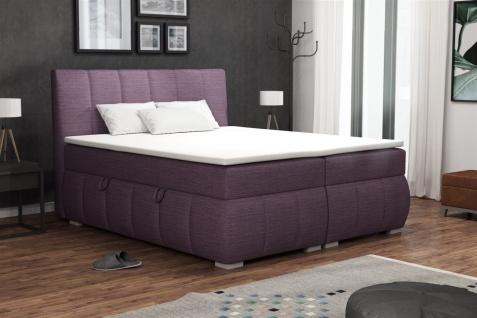 Boxspringbett Schlafzimmerbett VINCENZA 140x200cm inkl.Bettkasten