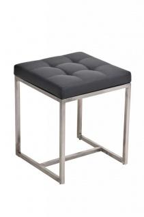 Sitzhocker - BRIT 2 - Hocker Sessel Kunstleder Grau 40x40cm