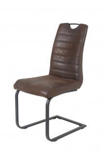 Esszimmerstühle Stühle Freischwinger 4er Set - Mark - Braun