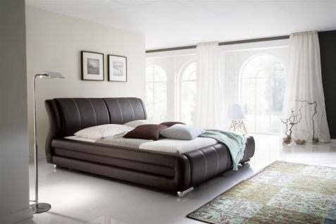 Polsterbett Bett Doppelbett Tagesbett - LIMA - 180x200 cm Braun - Vorschau 2