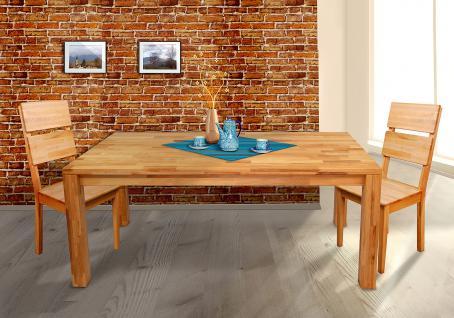 Esstisch Tisch GERI XL 200x100 cm Buche massiv geölt / Fuß 150x150 mm